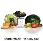 diet concept. vegetables and... | Shutterstock . vector #456887530