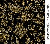 stock vector seamless floral... | Shutterstock .eps vector #456889786