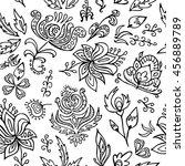 stock vector seamless floral... | Shutterstock .eps vector #456889789