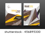 3d triangle shapes. business... | Shutterstock .eps vector #456895330