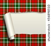 Ripped Paper With Tartan...