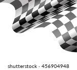 checkered flag flying on white... | Shutterstock .eps vector #456904948