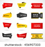 vector stickers  price tag ... | Shutterstock .eps vector #456907333
