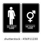 all gender restroom sign. male  ... | Shutterstock .eps vector #456911230