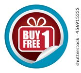 blue buy 1 free 1  promotion...   Shutterstock . vector #456915223