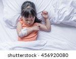 child arm with gauze bandage | Shutterstock . vector #456920080