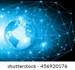 best internet concept. globe ... | Shutterstock . vector #456920176