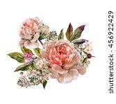 Vintage Floral Bouquet Of Ligh...