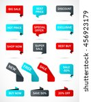 vector stickers  price tag ... | Shutterstock .eps vector #456923179