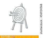 arrows in wooden targets....   Shutterstock .eps vector #456924568