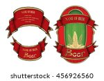 beer label  label with ornament ... | Shutterstock .eps vector #456926560