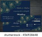 vintage wedding invitation set. ... | Shutterstock .eps vector #456928648