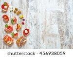 mix of appetizers   snacks.... | Shutterstock . vector #456938059