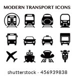various transportation icon set ... | Shutterstock .eps vector #456939838