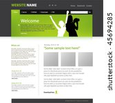 web site design template ... | Shutterstock .eps vector #45694285
