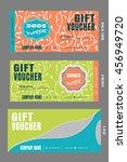 set of vector blank gift... | Shutterstock .eps vector #456949720