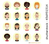 people avatars collection.... | Shutterstock .eps vector #456951514