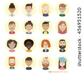 people avatars set. vector... | Shutterstock .eps vector #456951520