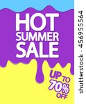 hot summer sale  melting ice... | Shutterstock .eps vector #456955564
