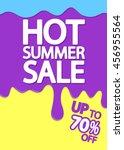 hot summer sale  melting ice... | Shutterstock .eps vector #456955564
