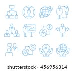 business management icons ... | Shutterstock .eps vector #456956314