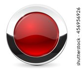 round button with chrome frame. ... | Shutterstock . vector #456956926
