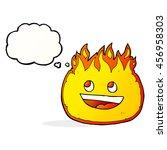 cartoon fire border with... | Shutterstock . vector #456958303