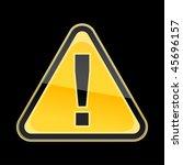 yellow golden attention hazard... | Shutterstock .eps vector #45696157
