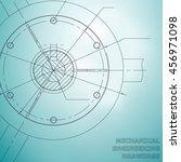 mechanical engineering drawings.... | Shutterstock .eps vector #456971098
