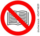 Forbidden Sign With Book Icon...
