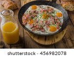 Ham And Egg Omelet With Herbs...