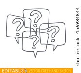 many question icon. editable... | Shutterstock .eps vector #456984844