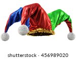 jester hat isolated on white... | Shutterstock . vector #456989020