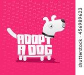 adopt a dog  vector icon... | Shutterstock .eps vector #456989623