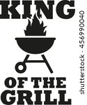 king of the grill with grill... | Shutterstock .eps vector #456990040