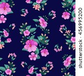 trendy seamless floral pattern... | Shutterstock .eps vector #456995200