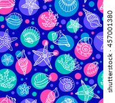 seamless pattern with doodle... | Shutterstock .eps vector #457001380
