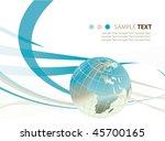 abstract world globe... | Shutterstock .eps vector #45700165