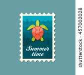 sea turtle vector stamp.  | Shutterstock .eps vector #457002028
