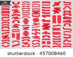 beautiful set hundred ribbons... | Shutterstock .eps vector #457008460