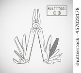 multifunctional tool  typically ... | Shutterstock .eps vector #457023178