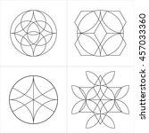 geometrical line ornaments. set ... | Shutterstock .eps vector #457033360