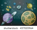 cartoon vector space landscape...