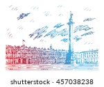 view of winter palace and... | Shutterstock .eps vector #457038238