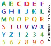 vector colored alphabet set... | Shutterstock .eps vector #457045090