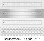 transparent plastic ruler 30... | Shutterstock .eps vector #457052710
