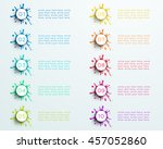 number bullet point abstract...   Shutterstock .eps vector #457052860