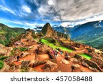 colorful hdr image of machu... | Shutterstock . vector #457058488