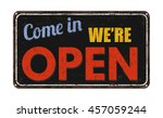 come in we're open on black... | Shutterstock .eps vector #457059244