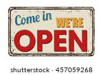 come in we're open vintage... | Shutterstock .eps vector #457059268